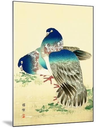 Blue Pigeons-Bairei Kono-Mounted Giclee Print