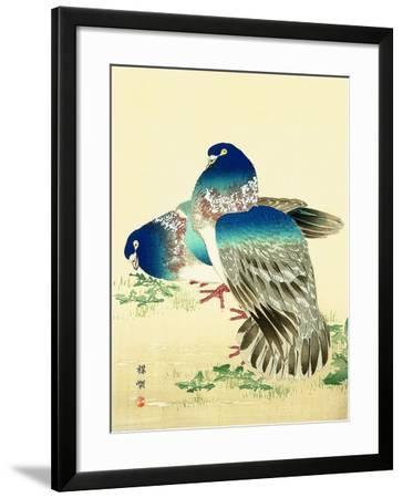 Blue Pigeons-Bairei Kono-Framed Giclee Print