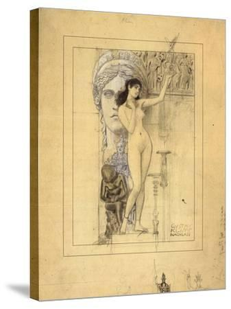 Preliminary Drawing for Allegory of Sculpture-Gustav Klimt-Stretched Canvas Print