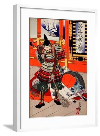 Cleaning Deck, from the Series Yoshitoshi's Incomparable Warriors-Yoshitoshi Tsukioka-Framed Giclee Print