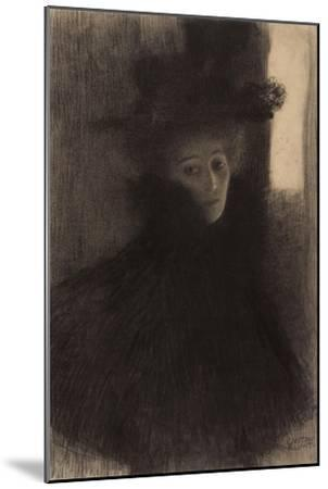 Portrait of a Lady with Cape and Hat-Gustav Klimt-Mounted Giclee Print
