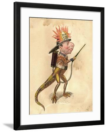 Salamander 1873 'Missing Links' Parade Costume Design-Charles Briton-Framed Giclee Print