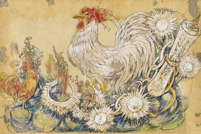 The Cock 1910 New Orleans Float Designs-Jennie Wilde-Framed Giclee Print