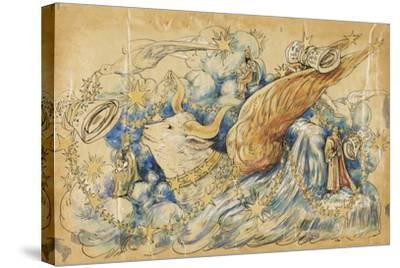 The Koran 1910 New Orleans Float Designs-Jennie Wilde-Stretched Canvas Print