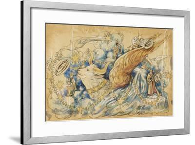 The Koran 1910 New Orleans Float Designs-Jennie Wilde-Framed Giclee Print