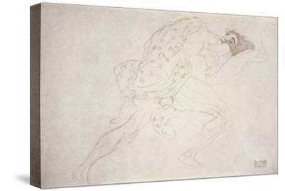 Pair of Lovers-Gustav Klimt-Stretched Canvas Print