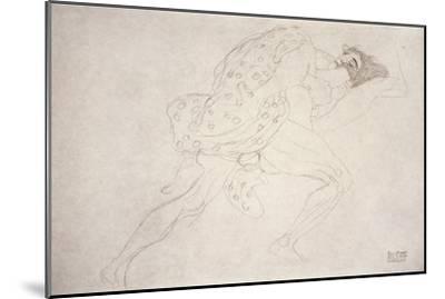 Pair of Lovers-Gustav Klimt-Mounted Giclee Print