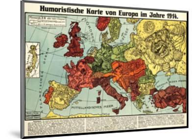 Satirical Map - Humoristische Karte Von Europa Im Jahre 1914-K. Lehmann-Dumont-Mounted Giclee Print