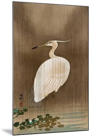 Wading Egret-Koson Ohara-Mounted Giclee Print