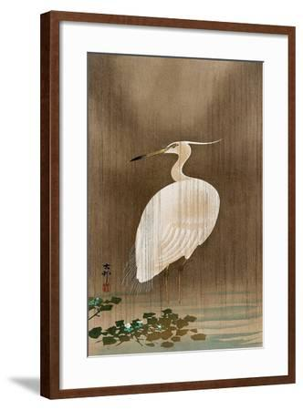 Wading Egret-Koson Ohara-Framed Giclee Print