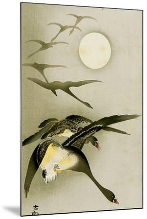 Geese and the Moon-Koson Ohara-Mounted Giclee Print