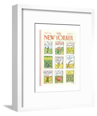 The New Yorker Cover - June 1, 1987-Roz Chast-Framed Premium Giclee Print