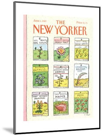 The New Yorker Cover - June 1, 1987-Roz Chast-Mounted Premium Giclee Print