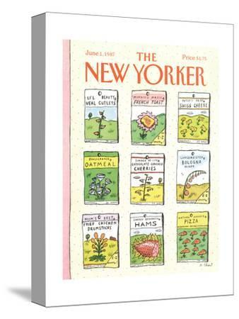 The New Yorker Cover - June 1, 1987-Roz Chast-Stretched Canvas Print