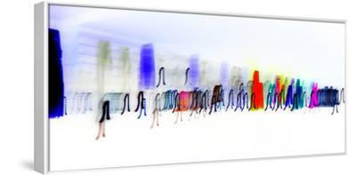 Colors Walk-Blew-Framed Stretched Canvas Print