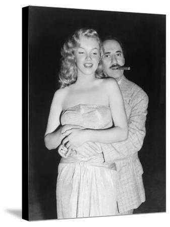 Marilyn Monroe, Groucho Marx, Love Happy, 1949--Stretched Canvas Print