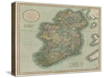 Vintage Map of Ireland-John Cary-Stretched Canvas Print