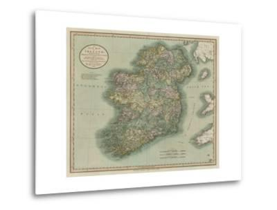 Vintage Map of Ireland-John Cary-Metal Print