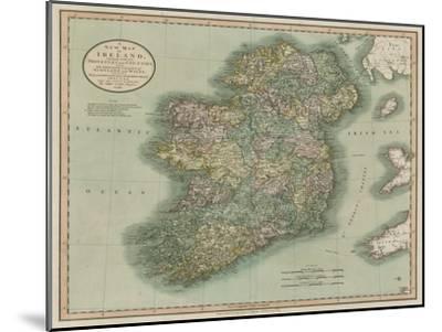 Vintage Map of Ireland-John Cary-Mounted Art Print