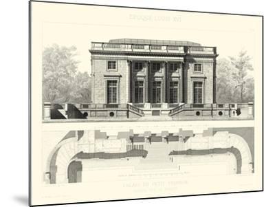 Palais Du Petit Trianon-E^ Obermayer-Mounted Art Print