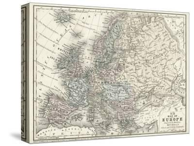 Mitchell's Map of Europe--Stretched Canvas Print