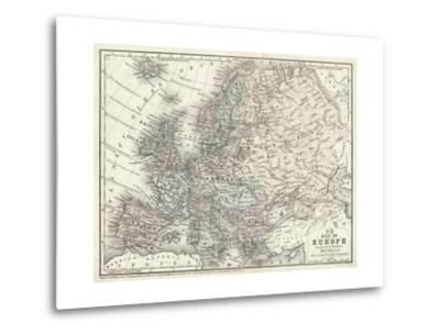 Mitchell's Map of Europe--Metal Print
