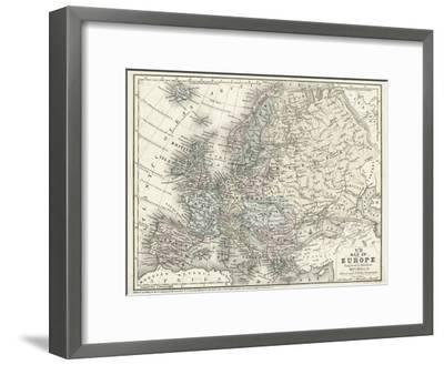 Mitchell's Map of Europe--Framed Art Print