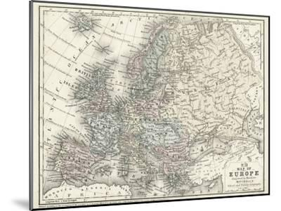 Mitchell's Map of Europe--Mounted Art Print