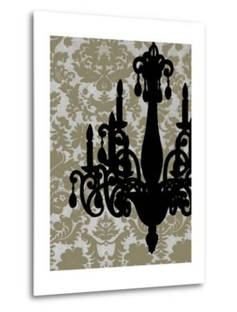 Small Chandelier Silhouette I-Ethan Harper-Metal Print