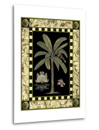 Bordered Palms on Black II--Metal Print