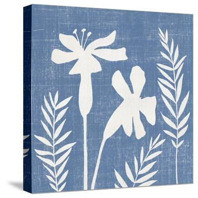 Small Blue Linen II-Megan Meagher-Stretched Canvas Print