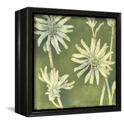 Verdigris Blossoms III-Megan Meagher-Framed Stretched Canvas Print