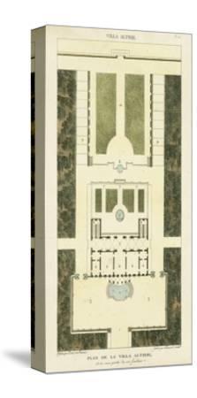 Plan de la Villa Altieri-Bonnard-Stretched Canvas Print