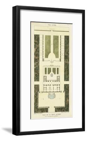 Plan de la Villa Altieri-Bonnard-Framed Art Print