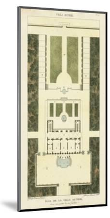 Plan de la Villa Altieri-Bonnard-Mounted Art Print