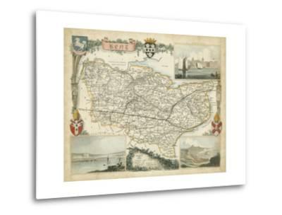 Map of Kent--Metal Print