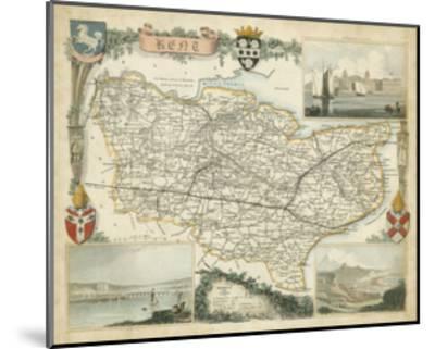 Map of Kent--Mounted Art Print