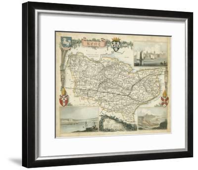 Map of Kent--Framed Art Print