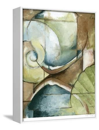 Shell Collage I--Framed Stretched Canvas Print