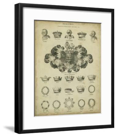 Heraldic Crowns and Coronets I-Milton-Framed Art Print