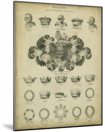 Heraldic Crowns and Coronets I-Milton-Mounted Art Print