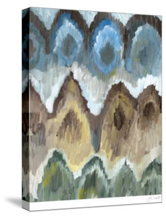 Flame Stitch Pattern II-Lisa Choate-Stretched Canvas Print