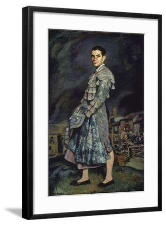 Portrait of Juan Belmonte, 1924-Ignacio Zuloaga-Framed Giclee Print
