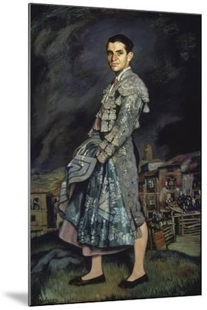 Portrait of Juan Belmonte, 1924-Ignacio Zuloaga-Mounted Giclee Print