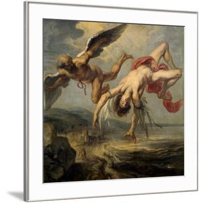 The Fall of Icarus, 1636-1637-Jacob Peter Gowy-Framed Giclee Print