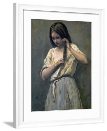 Young Girl at Her Toilet-Jean-Baptiste-Camille Corot-Framed Giclee Print