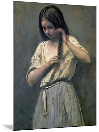 Young Girl at Her Toilet-Jean-Baptiste-Camille Corot-Mounted Giclee Print