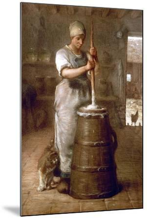 Churning Butter, 1866-1868-Jean-Fran?ois Millet-Mounted Giclee Print