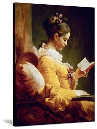 Reading Girl, 1776-Jean-Honor? Fragonard-Stretched Canvas Print