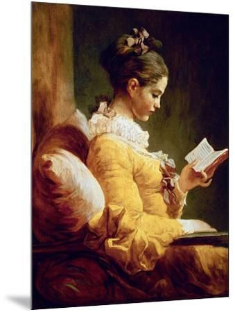 Reading Girl, 1776-Jean-Honor? Fragonard-Mounted Giclee Print
